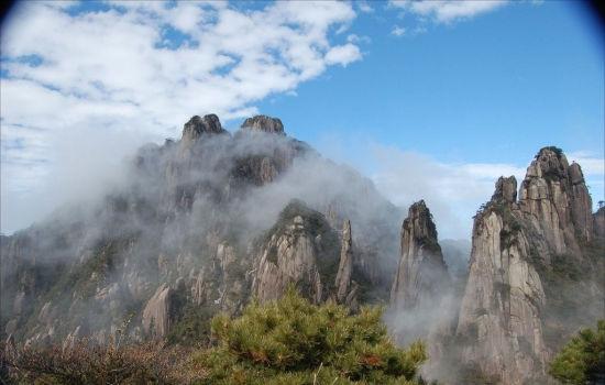 三清山风景区位于江西省上饶市境内,世界自然遗产,国家aaaaa级景区